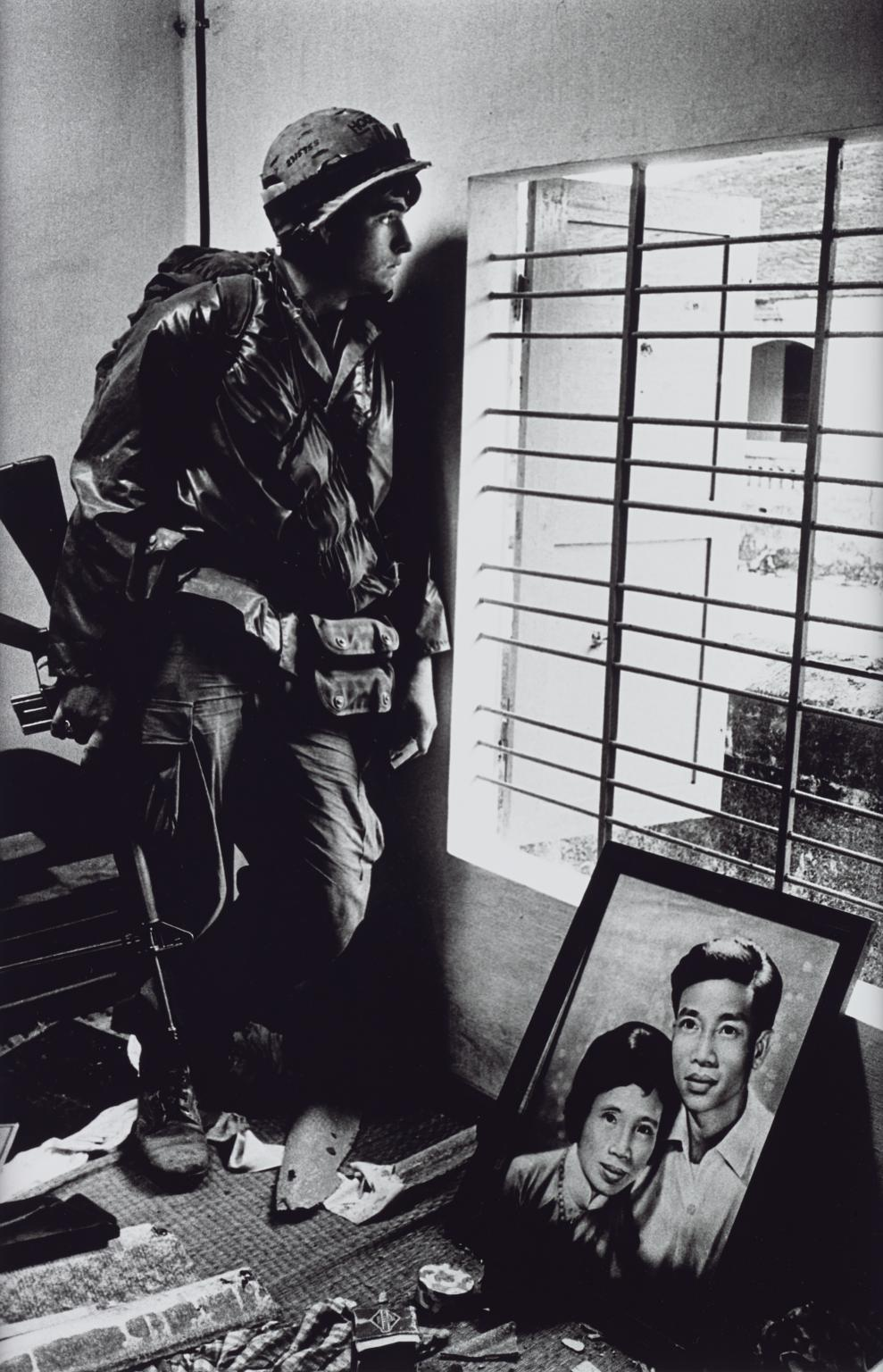 The Battle for the City of Hue, South Vietnam, US Marine Inside Civilian House 1968, printed 2013 by Don McCullin born 1935