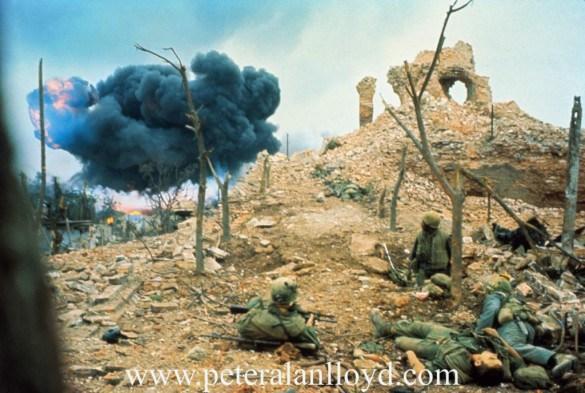 US Marines Watching Bomb Exploding